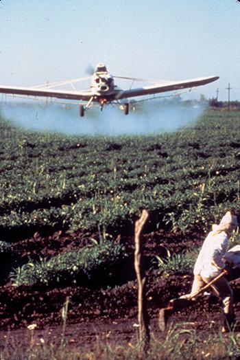 petrochemical plane spray